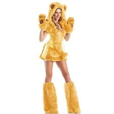 SEXY ANIMAL BEAR FANCY DRESS COSTUME OUTFIT 6 8 10 WINTER FUR FAUX 6103