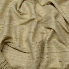 "Natural Color Tassah/Noil 100% Raw Silk Fabric, 54"" Wide, By The Yard (WT-205)"