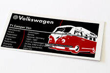 Lego Creator UCS Sticker for VW T1 Camper Van 10220