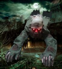 Scary Halloween Party Prop Animated Crawling Zombie Ghost Skull Eyes with Lights