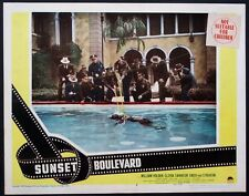 SUNSET BOULEVARD WILLIAM HOLDEN DEAD IN SWIMMING POOL BILLY WILDER LOBBY CARD #2