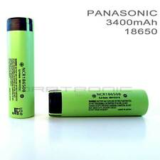 2 x PANASONIC NCR18650B LI-ION Rechargeable  BATTERY 3400mAh 3.7v 18650