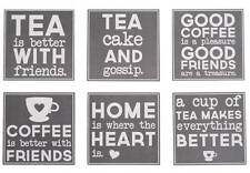 Set of 6 Friends Coasters with Tray - Home Accessory - Friend Gift Present