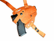Springfield XD, S&W M&P Shield, SD9 SD40 shoulder leather gun holster  #107-2