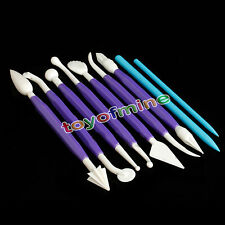 High Quality 9 Pcs Double Heads Plastic Pottery Clay Sculpture Carving Tools