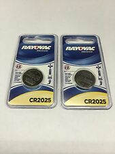 Set of 2 Genuine Rayovac CR2025 Lithium Remote Coin Cell Batteries USA SHIPPING