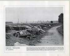 WW1 French Trenches At Cambrai Troops Hard Pressed La Fere