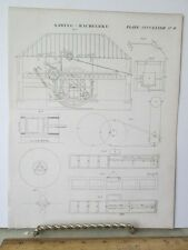 Vintage Print,SAWING MACHINE,Plate 482 #2,Edinburgh Encyclopedia,c1800