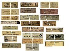V106 Old Violin Fiddle Maker Labels Antique Copies Reproduction Set of 23