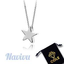 Silber Halskette mit Stern Anhänger Star Kette Schmuck Geschenk