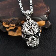 Cool Men's NF Stainless Steel Devil Skull Pendant Necklace 22""