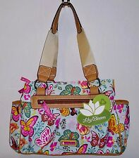 Lily Bloom Woodland Butterflies Triple Section Satchel