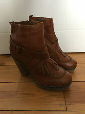 NEXT LADIES BROWN LEATHER ANKLE BOOTS UK6.5 EUR40