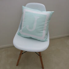 PERSONALISED CUSHION COVER - MONOGRAM INITIAL - MINT GREEN -