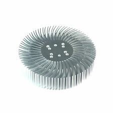 5pcs 3.5x0.8inch Round Spiral Aluminum Alloy HeatSink for 1-10W LED Silver White