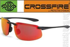 Crossfire ES4 Red Mirror High Definition Lens Safety Glasses Sunglasses Z87.1