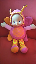 B&M Butterfly squeaky russel wings Doll pink 12 inches tall soft plush toy *