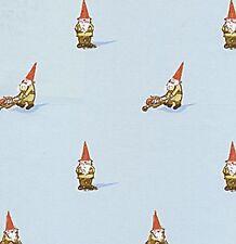 Heather Ross Lightning Bugs Gnomes Gnome Sky Blue OOP HTF Fabric HALF YARD
