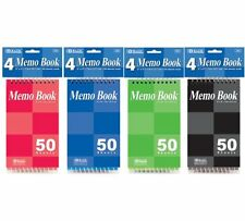 """BAZIC 50 Sheets 3"""" X 5"""" Top Bound Spiral Memo Books (4/Pack)"""