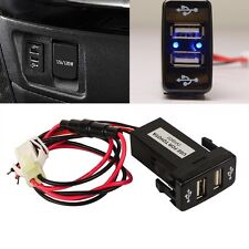 Dual USB 2 Port Phone Charger Car For Toyota Land Cruiser 100 Series 1998-2007