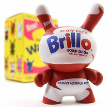 "Kidrobot ANDY WARHOL DUNNY SERIES - BRILLO SOAP PADS White 3"" Vinyl Figure NEW"