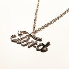retro-a-go-go Ford Emblem Detroit Chrome Necklace*