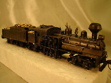 4 Truck Steam Logging Shay - custom built, weathered, decorated - lot 4 -HO