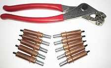 "Cleco Fastener & Cleco Plier 1/8"" Temporary Fastener Spring Loaded 11 piece Kit"