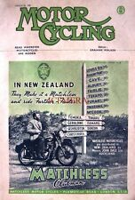 March 22 1951 MATCHLESS 'Clubman' Motor Cycle AD - Magazine Cover Print ADVERT