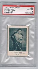 1951 Laval Dairy Lac St. Jean Hockey Card #22 Lucien Roy Graded PSA 4