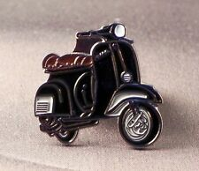 Metal Enamel Pin Badge Brooch Vespa Scooter Motorbike Bike Biker Rider Black
