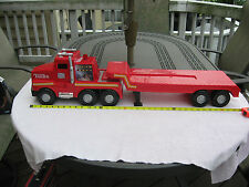"2001 Plastic Tonka Semi & Trailer 35"" Length with Lights & Sounds"