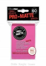 Ultra Pro HOT PINK Pro-Matte SMALL YUGI Deck Protector Sleeves (60)