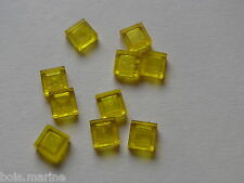 Lego 10 lisses transp jaune set  30161 4494 6335 5761 /10 trans-yellow tile 1x1