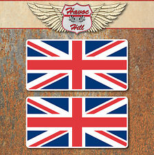 Union Jack Flag Laminated Stickers 70x35mm GB English England Car Bike Decals