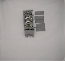 6 x Fused DIN Rail Terminal all with plate Terminal 500 V 6.3A 5 x 20mm Fuse