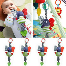 Baby Infant Kids Music Elephant Soft Hanging Bed Dolls Bell Plush Toys Teether