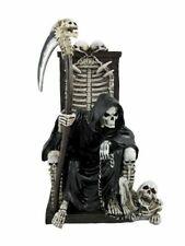 2 PEWTER GRIM REAPER SKELETON CAPE FIGURES  NEW ITEM metal statue raapers skulls