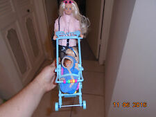 Tanya Doll Babysitter Babysitting 2 Two Dolls Boy Girl Babies Stroller Walking