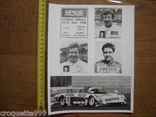 Photo Equipe BP SPICE Team  111 AUTOMOBILE Course Circuit 24H LE MANS 1988