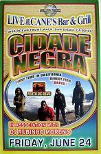 """CIDADE NEGRA """"PERTO DE DEUS"""" 2007 SAN DIEGO CONCERT TOUR POSTER - Reggae, Soul"""