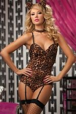 Kitty Bedroom Costume Set New Adult Halloween Cristmas Womens Brown One Size