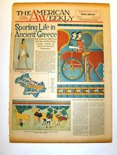 AMERICAN WEEKLY - 2/23/1930 - Sporting Life in Ancient Greece - S. Andrew Wood