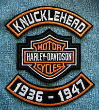 "4"" KNUCKLEHEAD 36-47 ROCKER SET  HARLEY DAVIDSON MOTORCYCLE BIKER CENTER PATCH"