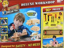 Children's DIY 90pc Deluxe Wood Workshop Kit Play Set w Tools Hammer Saw PS96