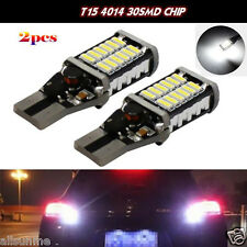 2X T15 W16W CREE 4014 30SMD LED 7W Car Turn Singal Brake Stop Light Bulb 12-24V