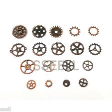 20X Vintage Copper Watch Parts Steampunk Cyberpunnk Cogs Gears DIY Jewelry Craft