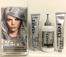X2 L'OREAL PARIS Hair Color Feria Pastels Dye #P1 SMOKEY BLUE, SILVER IMPORT USA