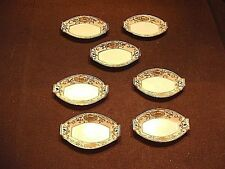 7 Pc Vintage Morimura Noritake #16034 Christmas Ball Gold Encrusted Nut Dishes