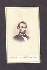 Civil War CDV Abraham Lincoln Backmark Whitehurst Gallery M. E. Powers
